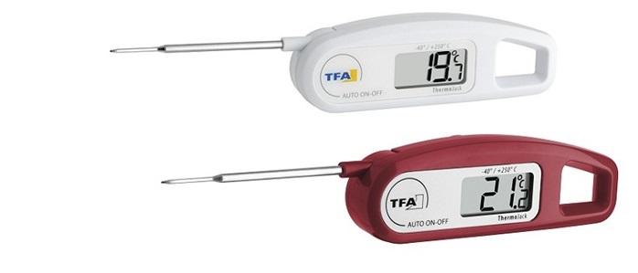 Termometro con sonda richiudibile