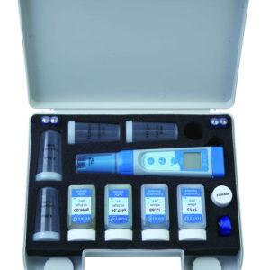 Tester PH/Cond/TDS/Sale/Temp. con soluzioni e sensore