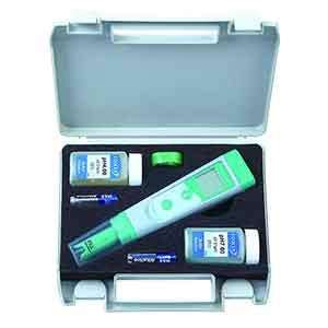 Phmetro portatile con soluzioni e elettrodo incorporato